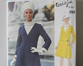 Vintage Vogue 2159 GALITZINE of ITALY Vogue Couturier Design Mod 1969 Coat Dress Blouse Uncut Factory Folded 1960s OOP with label size 16