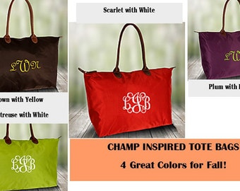 Monogrammed Tote /Champ Inspired /Great Gift/ All Season Bag