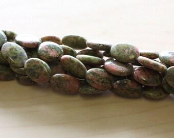 Natural Unakite Beads 27pcs.