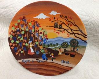 Autumn German Plate, Barbara Furstenhoffer, Wunsiedel Bavarian Porcelain,  Collectible Souvenir Plate, Furstenhoffer Plate, Germany, Bavaria
