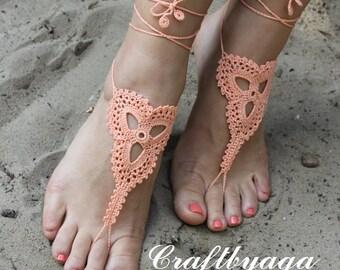 Wedding barefoot sandals,Crochet Barefoot Sandals,Beach Barefoot Sandals,Foot jewelry,Bridesmaid Gift,Barefoot Sandals,Bridal Jewelry,Anklet