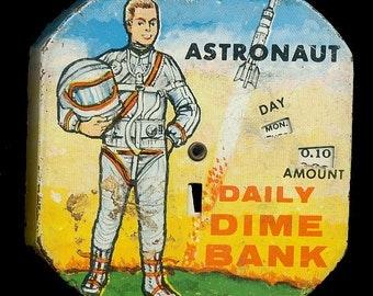 1950 Kalon Astronaut Daily Dime Register Bank