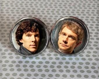 Sherlock and Watson Earrings