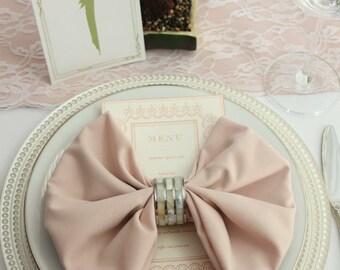 Blush Napkin for Weddings, 20 inch Blush Napkins | Wholesale Cloth Napkins