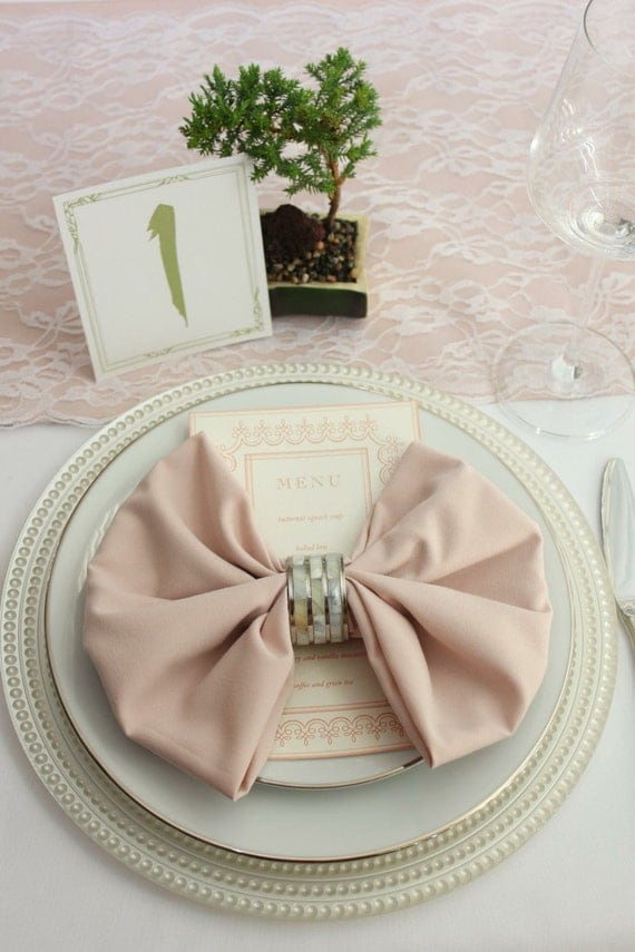 Blush Napkin For Weddings 20 X 20 Inches By BurlapAndSilkCompany