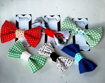 Dog Bow Tie - Dog Bowties - Dog Collar Bow Tie - Dog Accessories for Male Dogs - Velcro Dog Collar Accessories - Cat Bow Ties