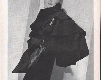 Vogue magazine original of Madame Valentina, designer, modeling one of her own, photo by Horst - PD000677