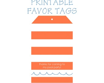 Printable Favor Tags-Digital File DIY printable
