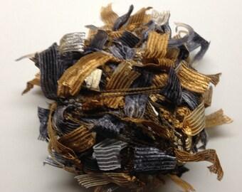 Trendsetter Joy multi texture ribbon DK weight yarn (509 Animal Print/ Gray, Brown, Black)