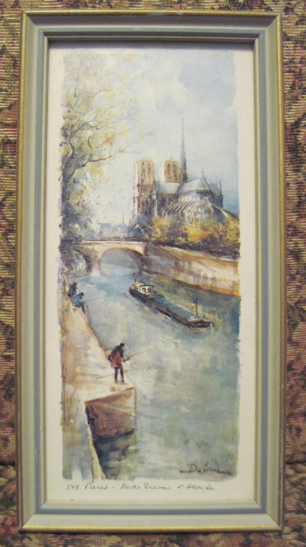 Lucien Delarue Art Print 548 Paris Matted And Framed In