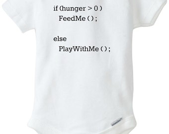 Nerd Alert!   Baby Coding Onesie   If Hungry, Feed Me, Everything Else, Play With Me   Nerd Onesies   Daddy Is A Nerd