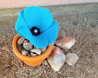 Pattern - Felt Poppy Flower Embellishment