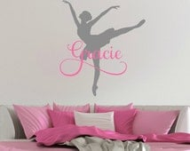 Ballerina Decal - Ballerina Wall Decal - Ballerina Sticker - Ballet Decal - Ballet Wall Decal