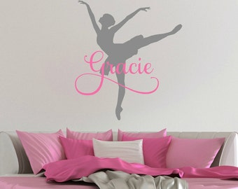 Ballerina Decal - Ballerina Wall Decal - Ballerina Sticker - Ballet Decal - Ballet Wall Decal - Ballet Decor - Ballerina Decor