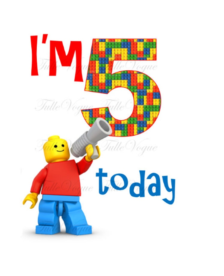 personalized birthday boy iron on transfer lego by tullevogue