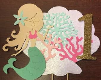 Custom Mermaid Cake Topper (Available in Any Colors!)