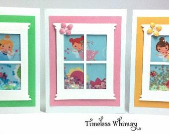 Handmade Fairy Shaker Card