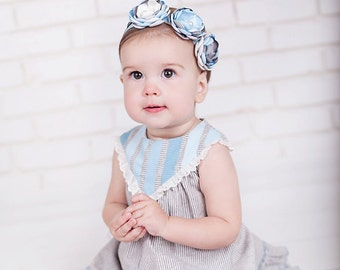 M2M Rosie Dress from WDW - Baby Headbands - Girls Headband - Rosette Headband - Pretty Headbands - Made to Match - Blue Headband