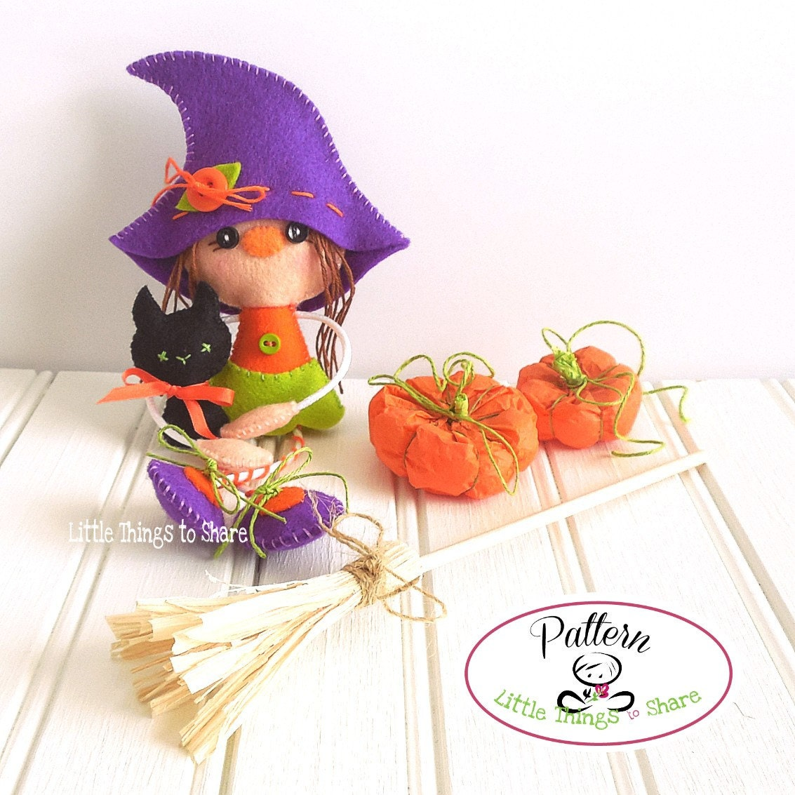 witch and catpdf sewing patternhalloween ornamentshalloween