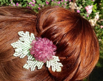 Purple Flower Hairpin