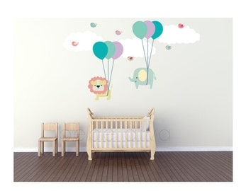 Wall Decals Nursery, Wall Decal Nursery, Nursery Wall Decal, Baby Wall Decal, Jungle Wall Decal, Kids Wall Decal, REMOVABLE and REUSABLE