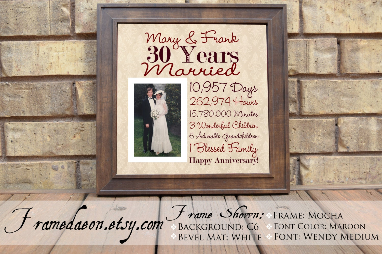 Wedding Anniversary 30th Wedding Anniversary Gift Parent