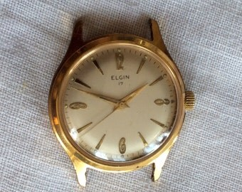 elgin watch elgin 17 men mechanical gold plated wrist watch working vintage elgin 17 goldplated watch vintage mechanical gold plated men s wrist watch