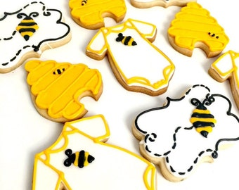 Cute Bumble Bee Baby Shower Decorate & Fresh Cookies