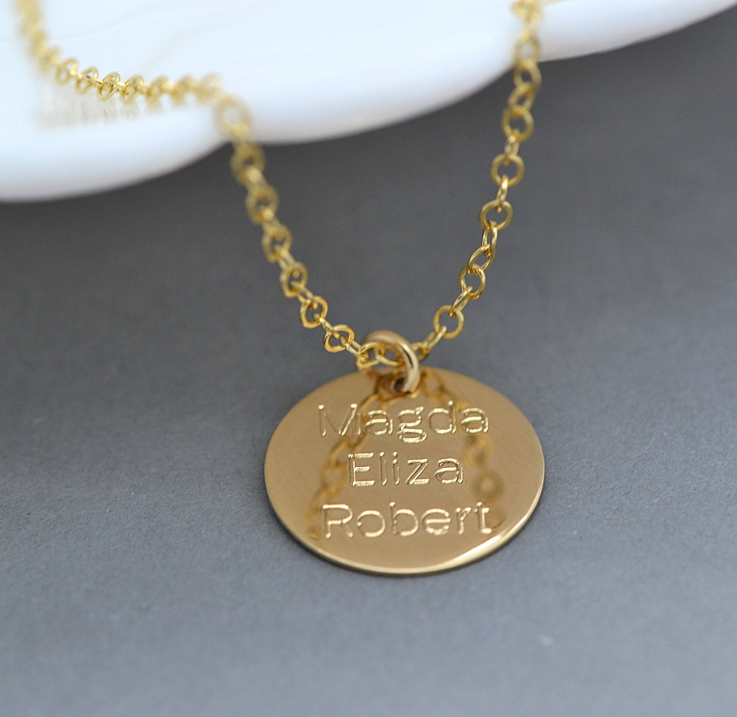 Personalized Disc Necklace / Name Necklace / Large Disc