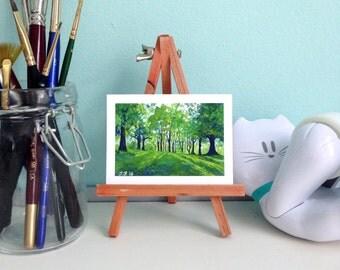 Mini Print Landscape Painting - ACEO - Fine Art Print - Landscape Painting - Nature Art - Giclée Print - Gouache Painting