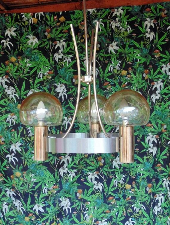 lustre vintage 3 lampes par lillevintage sur etsy. Black Bedroom Furniture Sets. Home Design Ideas