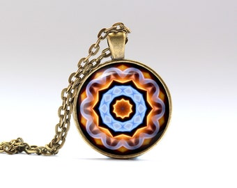 Color jewelry Geometry necklace Art pendant OWA152