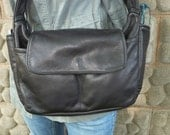 Black or Brown, multi comp leather shoulder bag. Style # Small Louise