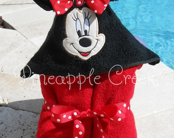 Minnie Mouse Hooded Towel MONOGRAM INCLUDED