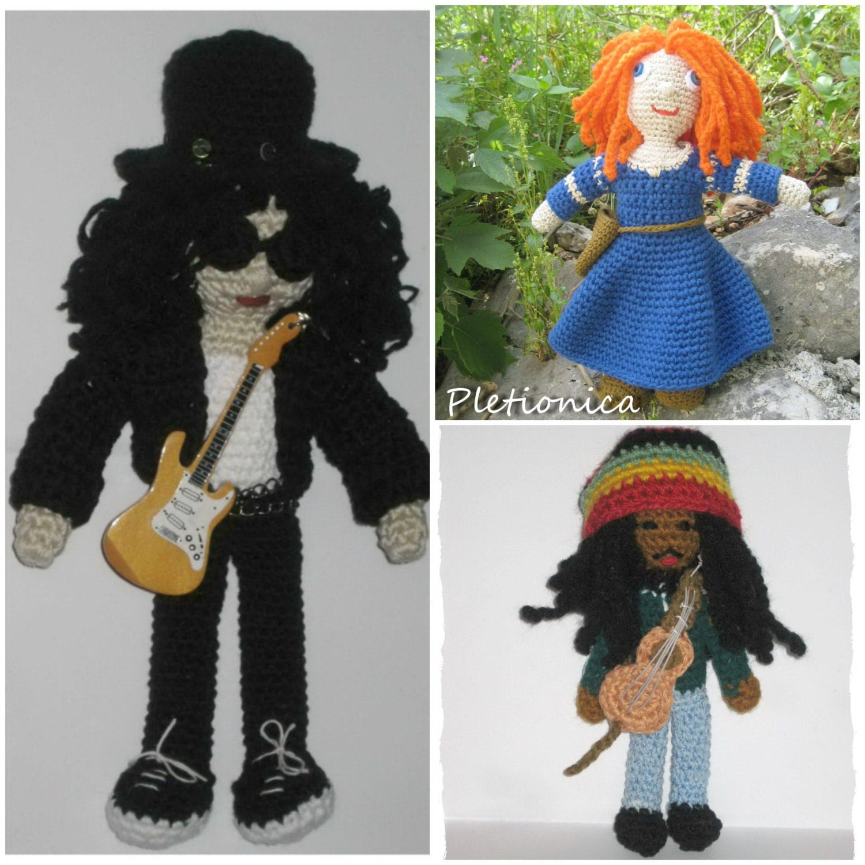 Crochet Amigurumi Doll Clothes : Crochet doll 3 patterns Amigurumi doll crochet by Pletionica