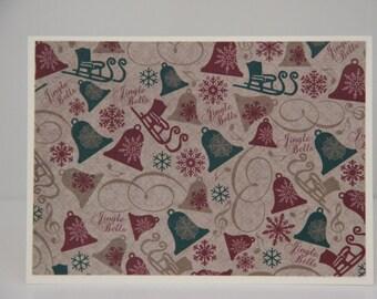 12 Jingle Bells Cards.  Christmas Card Set.  Blank Christmas Note Cards. Old Fashioned Christmas. Christmas Bells Card Set