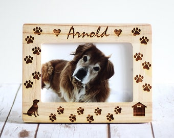 Pet Frame, Pet Frame Gift, Birthday Gifts, Christmas Gifts, Personalized Gifts, Dog Frame, Dog Picture Frame, Pet Memorial, Pet gift frame
