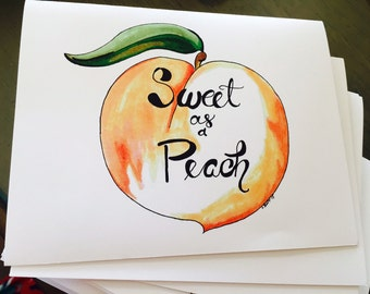 Sweet as Peach Notecards