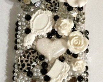 Flower cell phone bling case