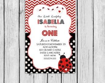 Ladybug Invitation Birthday Printable , Lady bug invitation Ladybug birthday any age, Ladybug party, ladybug personalized