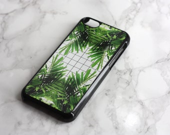 Leaves x Grid - iPhone Case Cover 4 / 4s / 5 / 5s / 5c / 6 / 6 Plus | Silicone available