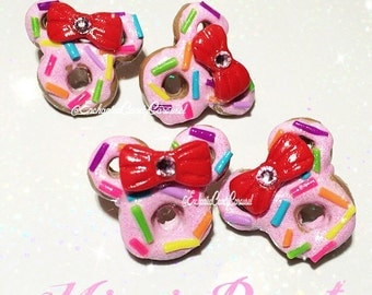 Glitter Mickey Minnie Donut Sprinkles Earrings Disney Disneyland Inspired