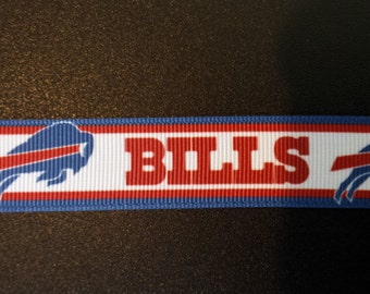 "7/8"" Buffalo Bills Inspired Grosgrain Ribbon"