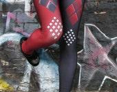 TAFI Harley Arkham Knight Leggings - Batman Dr Quinn Costume or Yoga Pants Black Milk Galaxy DC Joker Super Hero CosPlay Print