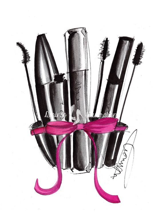 Items Similar To Makeup Print, Fashion Illustration