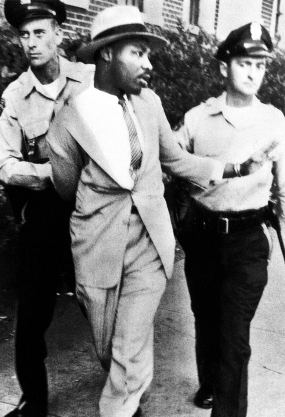 Martin Luther King Jr Poster Arrested Non-Violent Protest | 570 x 833 jpeg 69kB