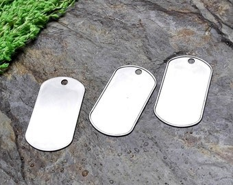50pcs Stainless steel Dog Tags Discs Stamping Blanks Dog Tag Blanks Stamping Blanks Silver Tags Blank Dog Tags