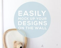Mock Up Baby Room Wall Art  Stock Photo- Mock Up Photograph F172