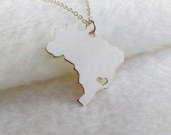 Brazil Map Necklace,Okinawa Necklace,Personalized Map Necklace,Custom Any Country Map Necklace,Specific Map Necklace,Worldwide Map Necklace