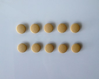 Fabric Buttons, buttons fabric beige - 10 buttons